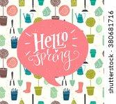 garden seamless pattern with... | Shutterstock .eps vector #380681716