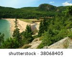 View From Above Sand Beach In...