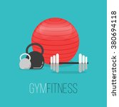 sport equipment flat banner... | Shutterstock .eps vector #380694118