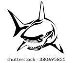 black shark | Shutterstock .eps vector #380695825