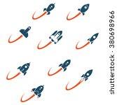 rocket set | Shutterstock .eps vector #380698966