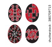 red and black easter eggs   Shutterstock .eps vector #380709715