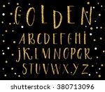 vector alphabet. hand drawn... | Shutterstock .eps vector #380713096