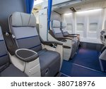 airplane cabin business class... | Shutterstock . vector #380718976
