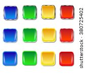 set of colored buttons. blue ... | Shutterstock .eps vector #380725402