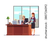 business executive with a... | Shutterstock .eps vector #380726092