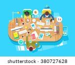 conference  office  workspace | Shutterstock .eps vector #380727628
