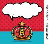 crown doodle  speech bubble | Shutterstock .eps vector #380729158