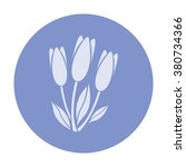 vector icon of modern flower | Shutterstock .eps vector #380734366