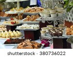 Delicious and elegant dessert buffet - stock photo