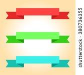 ribbon banners set | Shutterstock .eps vector #380736355