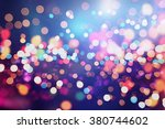 colored abstract blurred light... | Shutterstock . vector #380744602