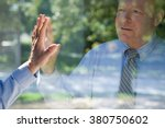 man looking at his reflection | Shutterstock . vector #380750602