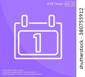 web line icon. calendar   Shutterstock .eps vector #380755912