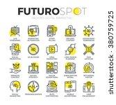 stroke line icons set of... | Shutterstock .eps vector #380759725