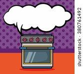 oven doodle  speech bubble | Shutterstock .eps vector #380761492