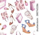Watercolor Shopping Seamless...