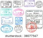 passport visas and stamps | Shutterstock . vector #38077567