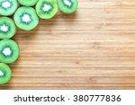 fresh ripe green kiwi fruits... | Shutterstock . vector #380777836