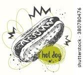 vector illustration hot dog...   Shutterstock .eps vector #380780476
