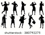 Silhouette Business Woman....