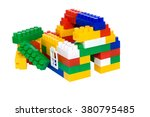 house from multi colored... | Shutterstock . vector #380795485