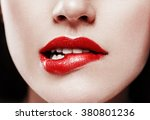perfect lips. sexy girl mouth... | Shutterstock . vector #380801236