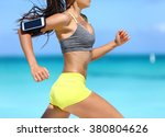 fitness athlete woman running... | Shutterstock . vector #380804626