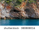 sea view of cave in the rock... | Shutterstock . vector #380808016