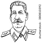 portrait of  stalin   hand... | Shutterstock .eps vector #380810392