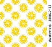 Lemon Seamless Pattern White...