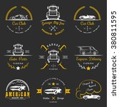 set of vintage car club  drift... | Shutterstock .eps vector #380811595