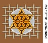 concept of hamantaschen cookies ... | Shutterstock .eps vector #380812552