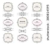 vintage frames  labels and... | Shutterstock .eps vector #380814595
