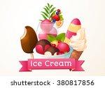 ice cream  logo  packaging... | Shutterstock .eps vector #380817856