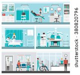 hospital and healthcare banner... | Shutterstock .eps vector #380820796