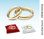 vector set of gold wedding... | Shutterstock .eps vector #380824636