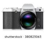 slr retro style photo camera... | Shutterstock .eps vector #380825065
