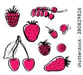 vector hand draw food. healthy... | Shutterstock .eps vector #380829826