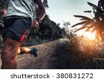 man athlete running on the... | Shutterstock . vector #380831272