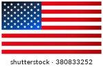 clean modern flag of the united ... | Shutterstock .eps vector #380833252