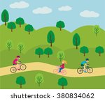 vector design on adult young... | Shutterstock .eps vector #380834062