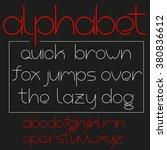beautiful sans serif font in... | Shutterstock .eps vector #380836612