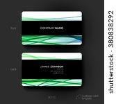 business card vector template... | Shutterstock .eps vector #380838292