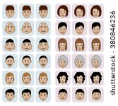 different faces of people. male ... | Shutterstock .eps vector #380846236