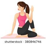 vector illustration of a woman... | Shutterstock .eps vector #380846746
