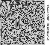 vector doodle line pattern... | Shutterstock .eps vector #380849986