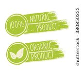 100 percent natural and eco... | Shutterstock .eps vector #380850322