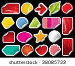 vector blank sticker | Shutterstock .eps vector #38085733