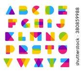 vector colorful alphabet made...   Shutterstock .eps vector #380859988
